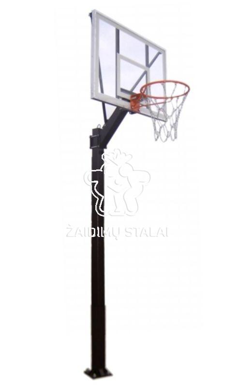 Įbetonuojamas krepšinio stovas Libra (akrilo plastikas)