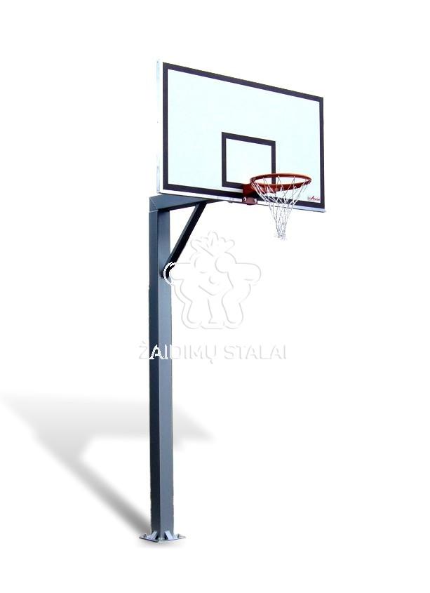 Įbetonuojamas krepšinio stovas Titanas 125 (jachtinė fanera)