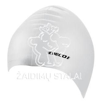 Vaikiška plaukimo kepurė BECO, silikoninė, balta