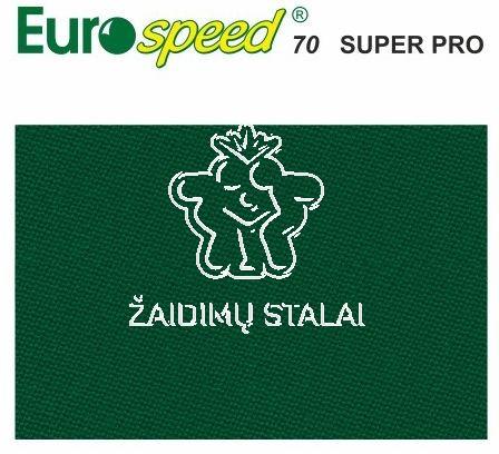 Biliardo audinys Eurosprint 70 Super Pro, 198 cm pločio, žalia spalva