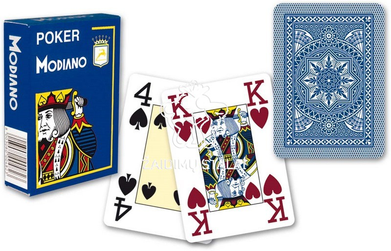 Kortos Modiano Poker 4 Jumbo Blue