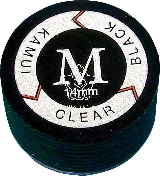 Biliardo lazdos antgalis Kamui Clear Black M 13mm