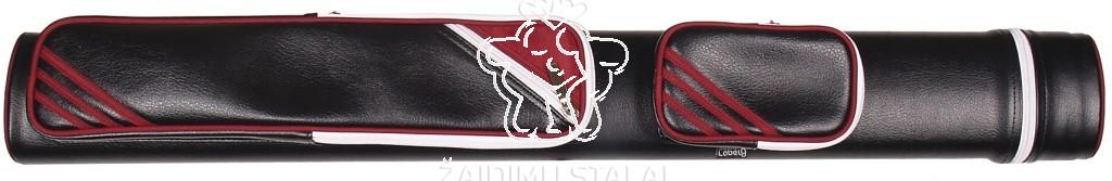 Dėklas 2 dalių lazdoms Label 9, 2B/2S juoda/raudona sp.