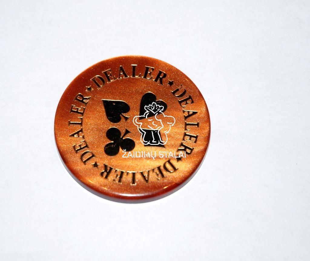 Dalintojo žetonas rudas 6mm storio