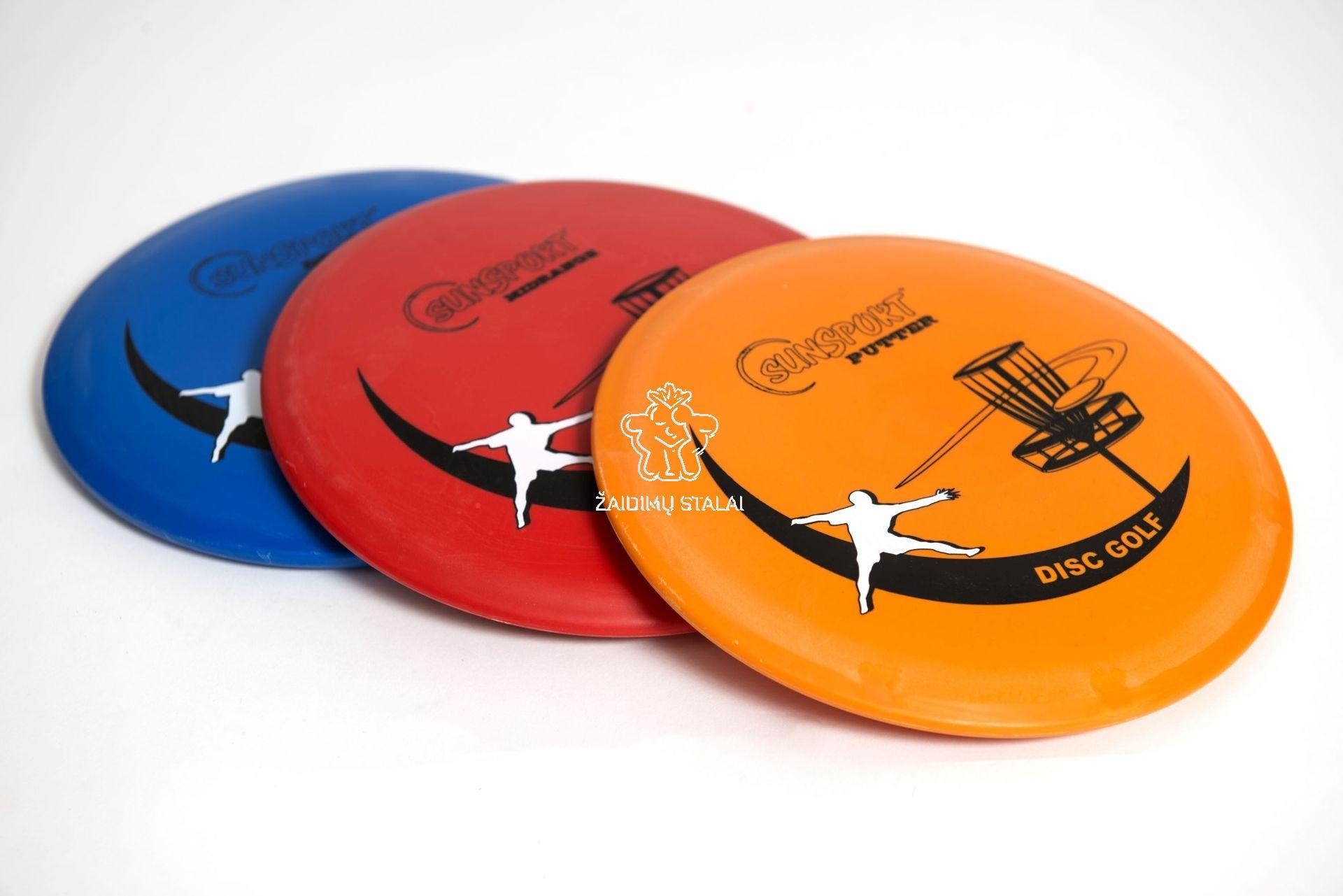Discgolf lėkšcių rinkinys: Driver, Mid Range & Putter