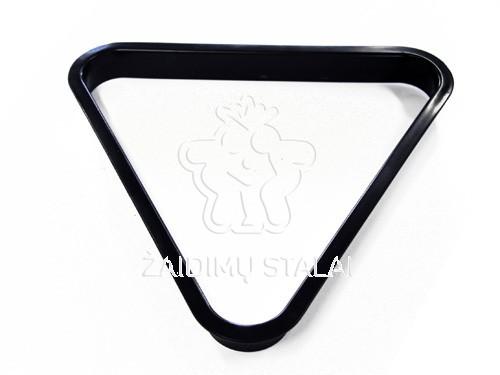 Snukerio trikampis 52.4mm plastikinis juodas