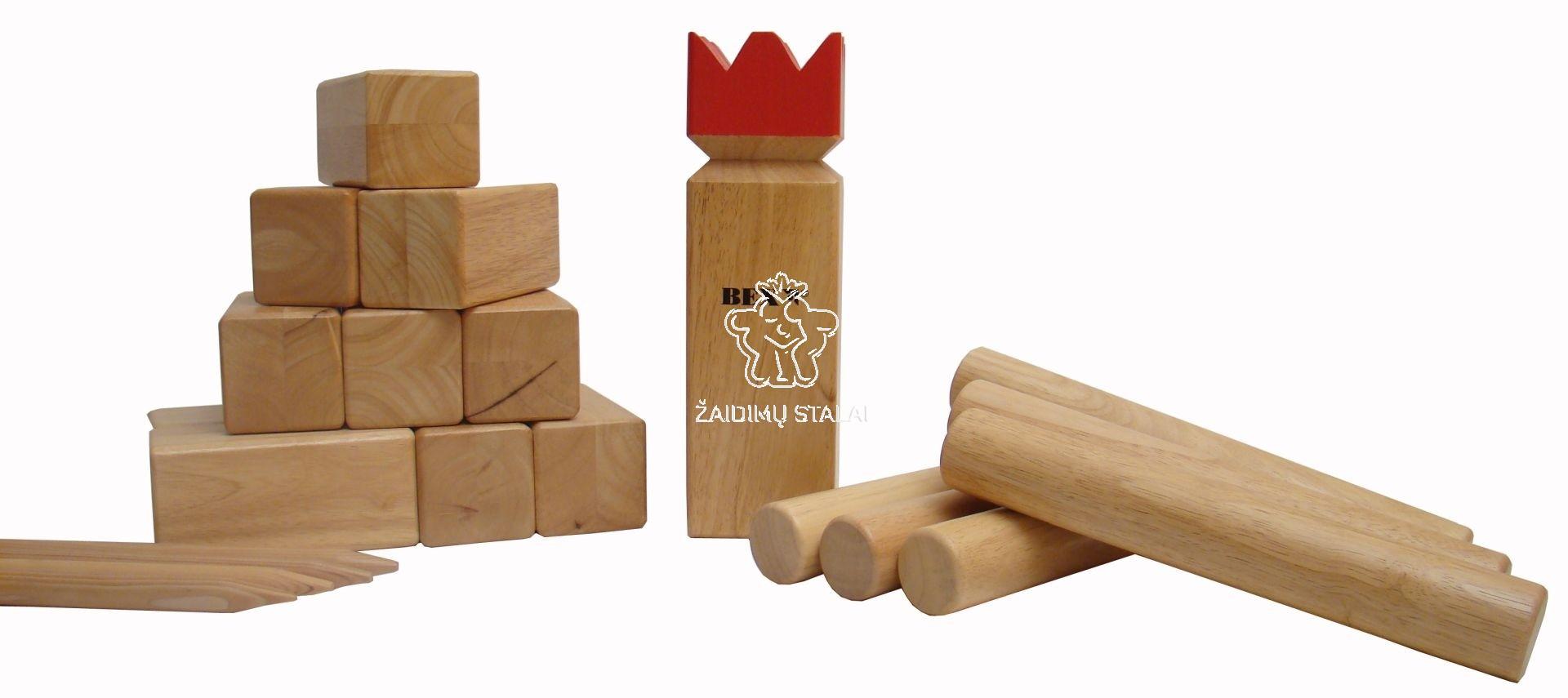 Lauko žaidimas Bex Kubb Pro, raudonas karalius