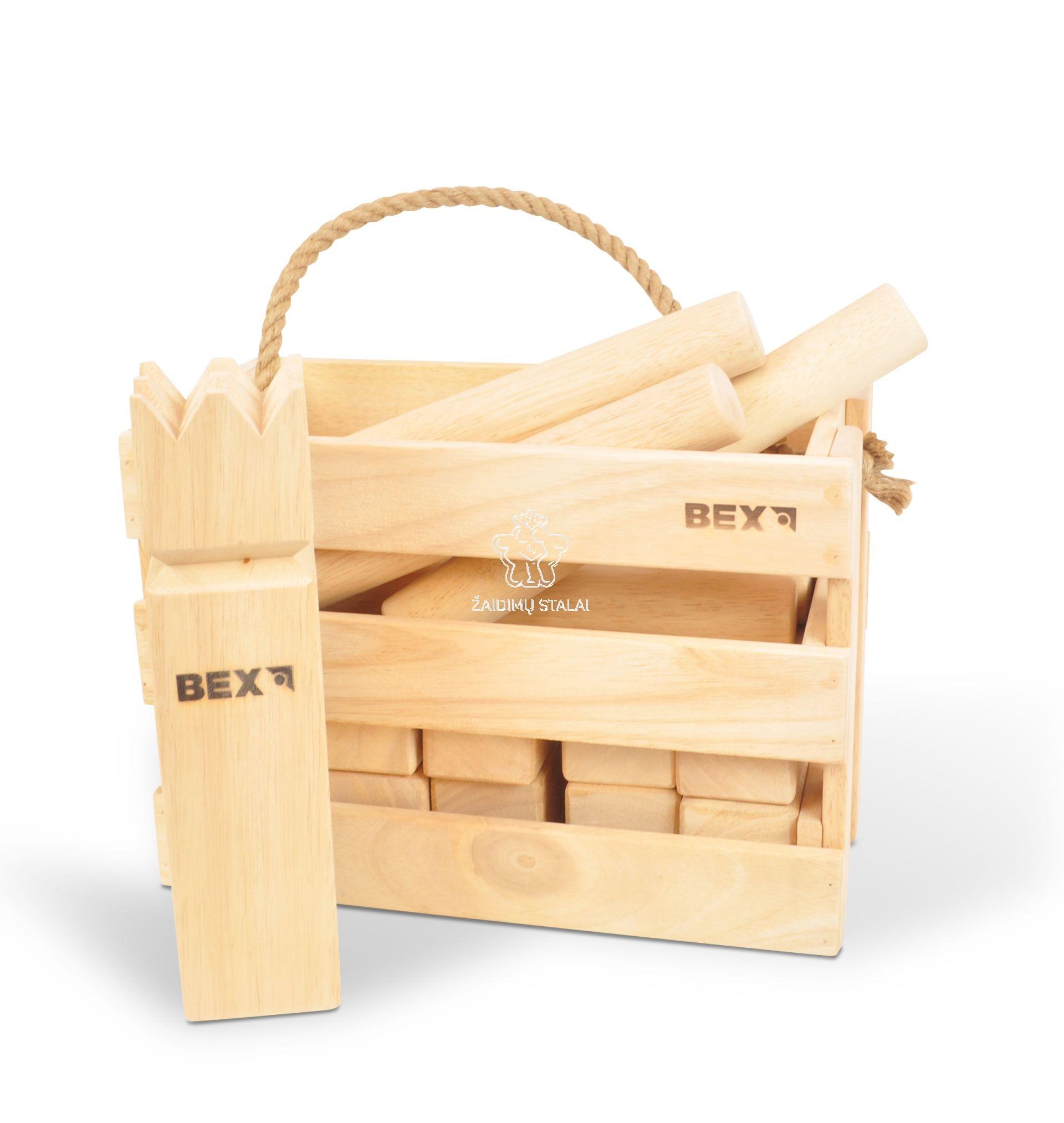 Lauko žaidimas Kubb Original, medinėje dėžėje