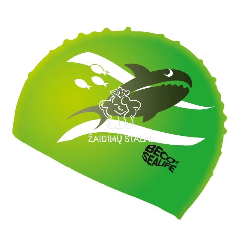 Vaikiška plaukimo kepurė BECO Sealife, silikoninė, žalia