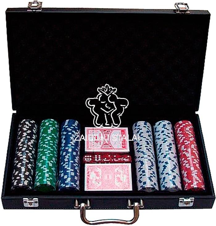 Pokerio rinkinys SUIT 300 žetonų su vertėmis