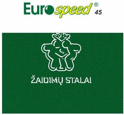 Biliardo audinys Eurospeed, 165cm pločio, ryškiai žalia spalva