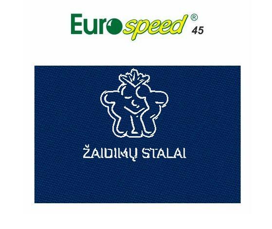 Biliardo audinys Eurospeed, 165cm pločio, mėlyna spalva