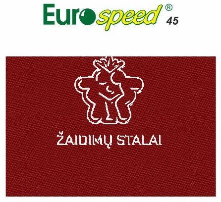 Biliardo audinys Eurospeed, 165cm pločio, raudona spalva