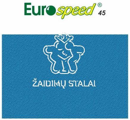Biliardo audinys Eurospeed, 165cm pločio, šviesiai mėlyna spalva
