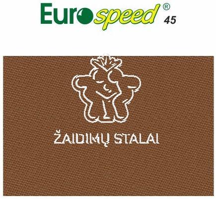 Biliardo audinys Eurospeed, 165cm pločio, ruda spalva