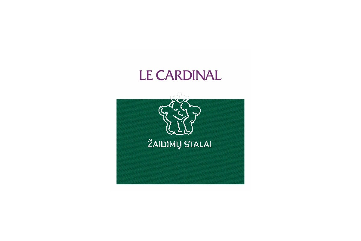 Biliardo audinys Le Cardinal 165 x 120 cm dydžio, žalia spalva