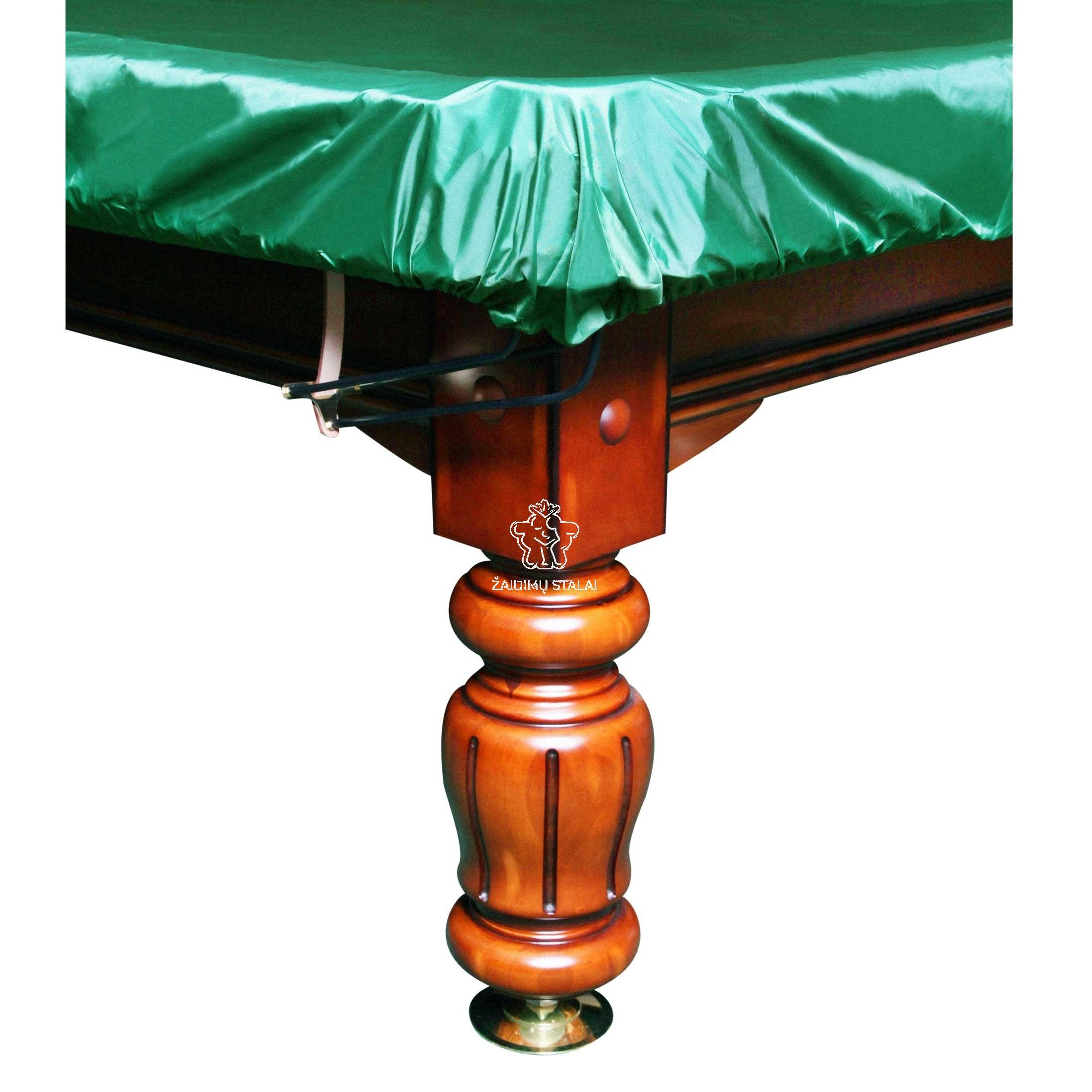 Biliardo stalo uždangalas 10, su guma, žalios spalvos