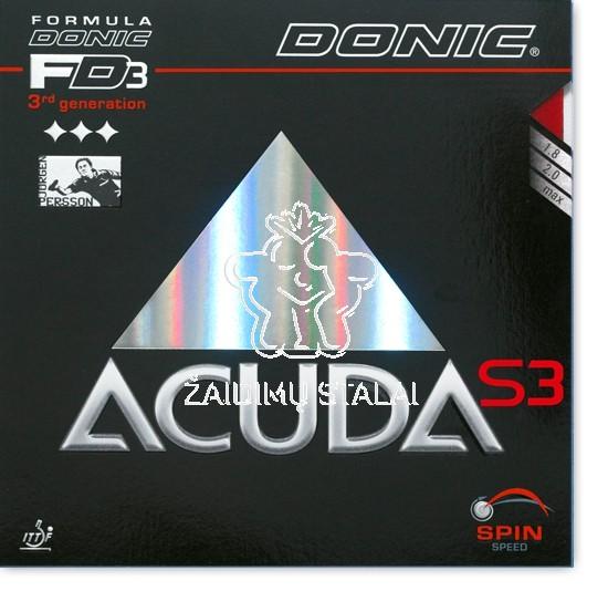 Stalo teniso rakečių guma Donic Acuda S3 Max juoda