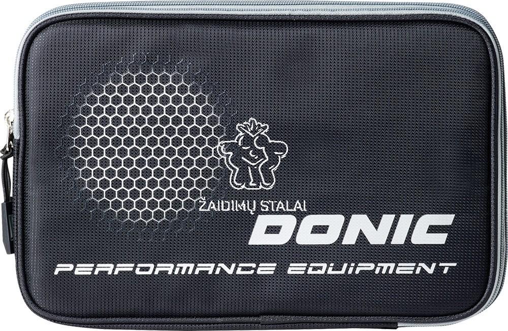 Stalo teniso raketės dėklas Donic Double Phase Black Silver