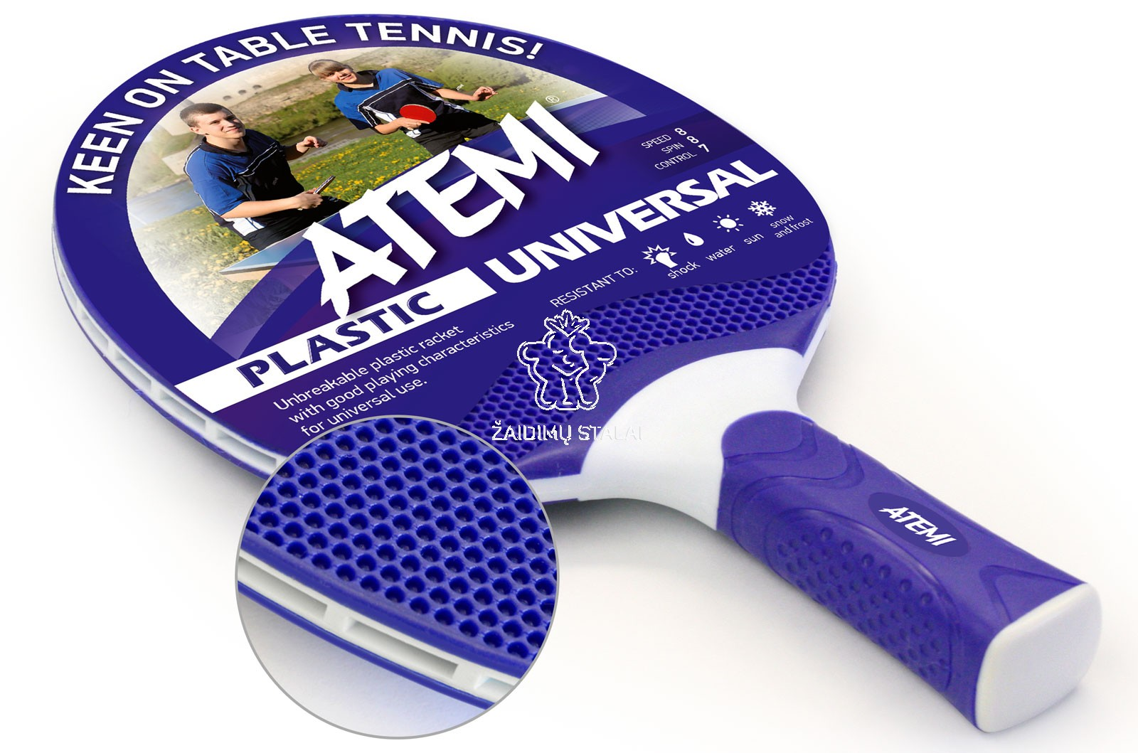 Stalo teniso raketė Atemi Universal, mėlyna