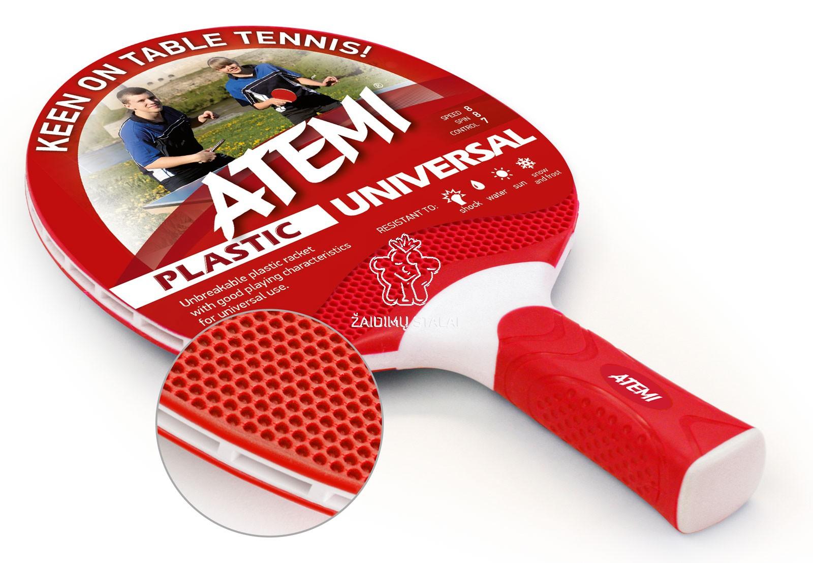 Stalo teniso raketė Atemi Outdoor, raudona
