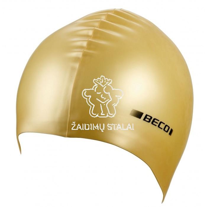 Plaukimo kepurė BECO, silikoninė, auksinė