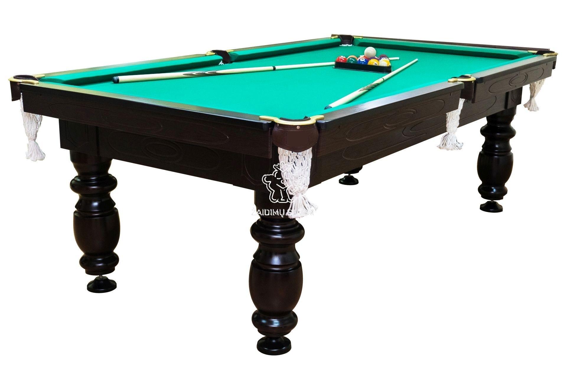 Pulo stalas Elegant 7' pėdų (230x130cm) žalias audinys, su komplektacija