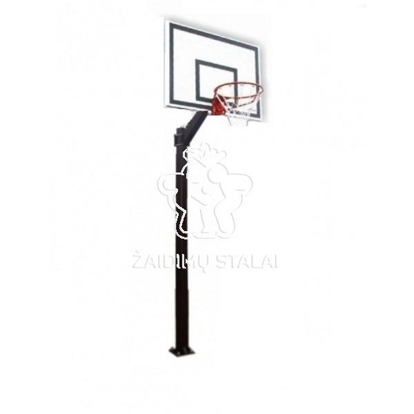 Įbetonuojamas krepšinio stovas Libra (jachtinė fanera)