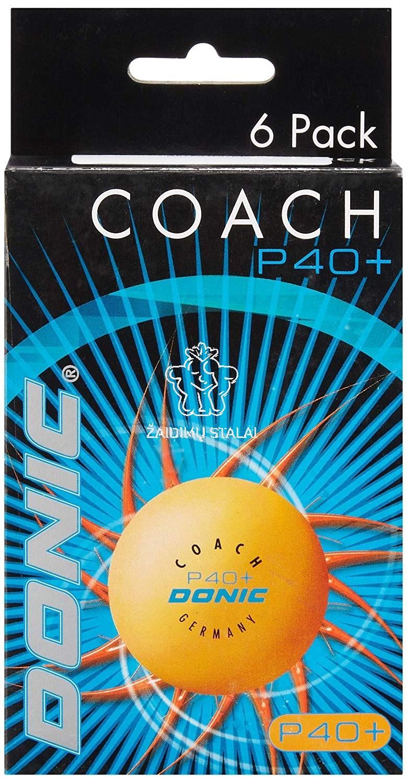 Stalo teniso kamuoliukai Donic Coach P40+** oranžiniai (6vnt. pak.)