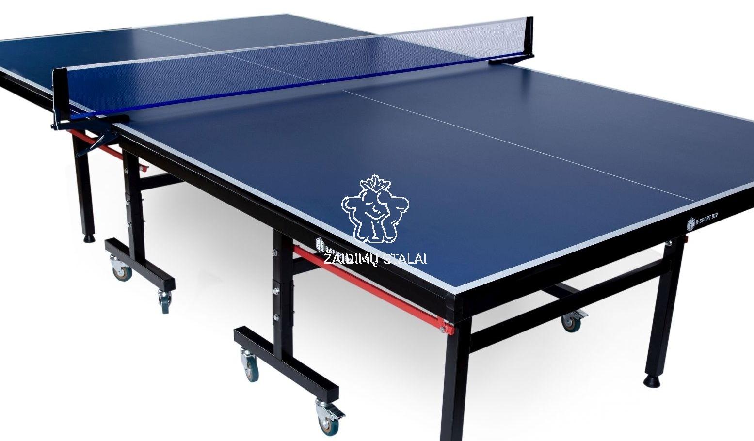 Stalo teniso stalas B-Sport B19, mėlynas 19mm MDF vidaus