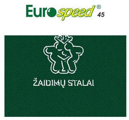 Biliardo audinys Eurospeed, 165cm pločio, žalia spalva