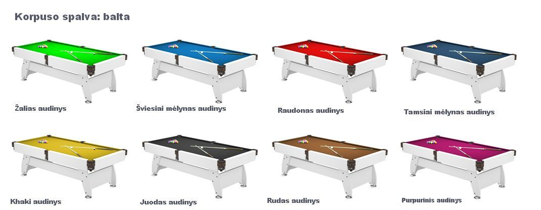 Pulo stalas_Q15_baltas_audiniai_pool_table