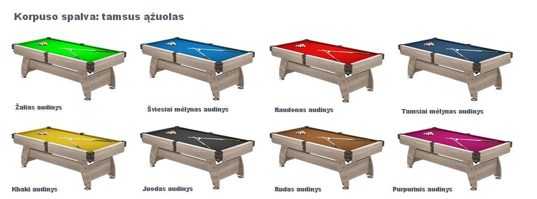 Pulo stalas_Q15_tamsus_azuolas_audiniai_pool_table
