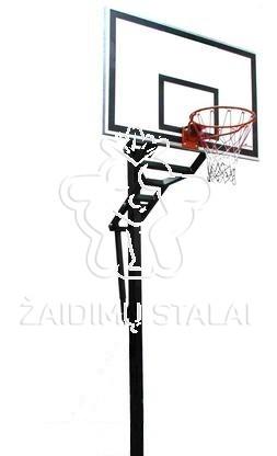 Įbetonuojamas krepšinio stovas Hydra (akrilo plastikas)