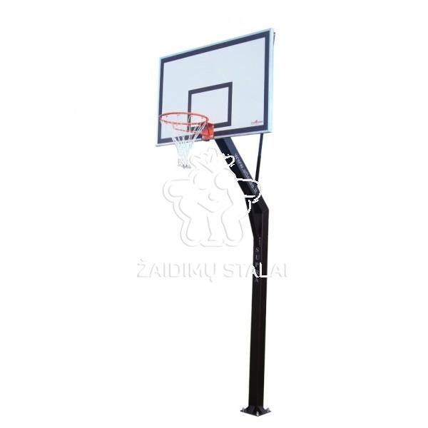 Įbetonuojamas krepšinio stovas Supra (akrilo plastikas)