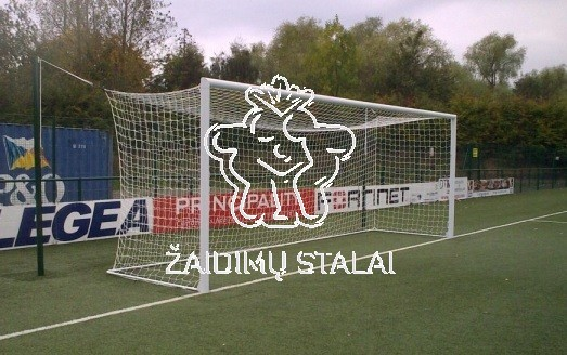 Standartiniai plieniniai futbolo vartai, įbetonuojami