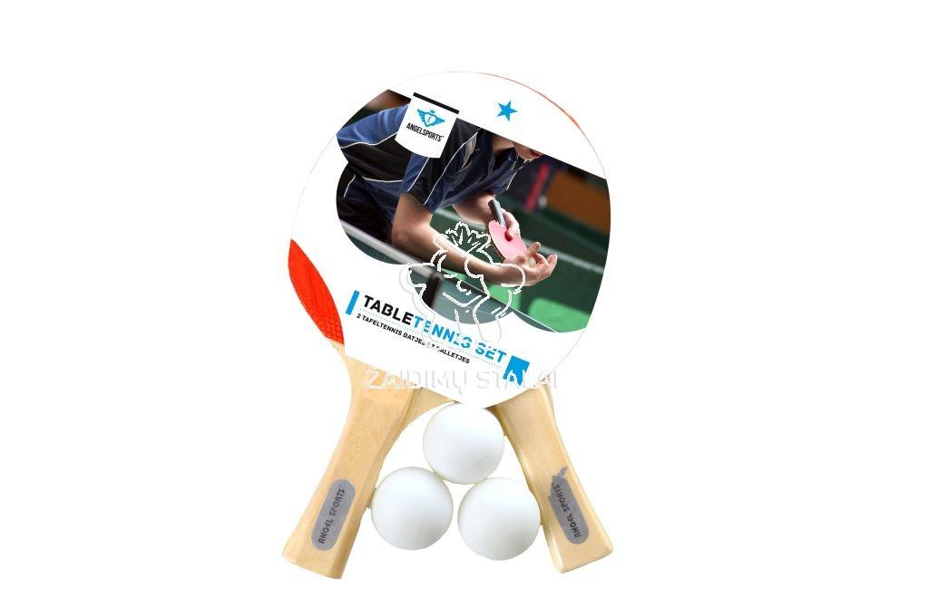 Stalo teniso rinkinys Angel Sports, 2 raketės, 3 kamuoliukai