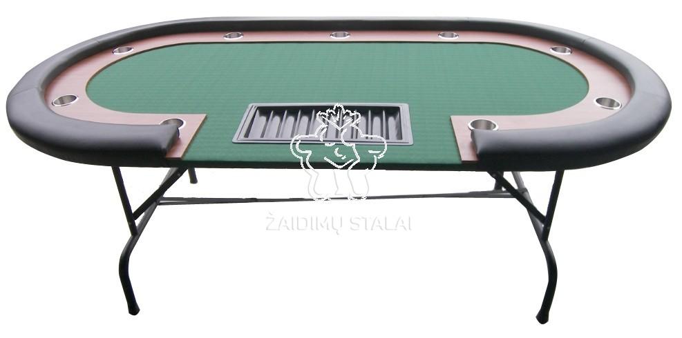 Pokerio stalas Buffalo High Roller 9 žaidėjams ir dalintojui