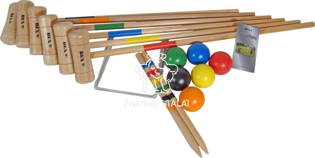 Lauko žaidimas kroketas Bex Original, 6 žaidėjams