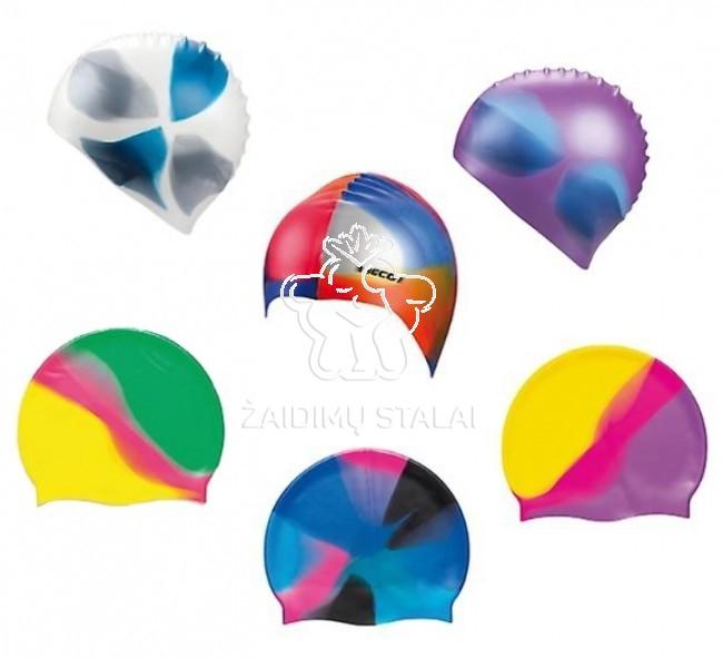 Plaukimo kepurė BECO, silikoninė, spalvota
