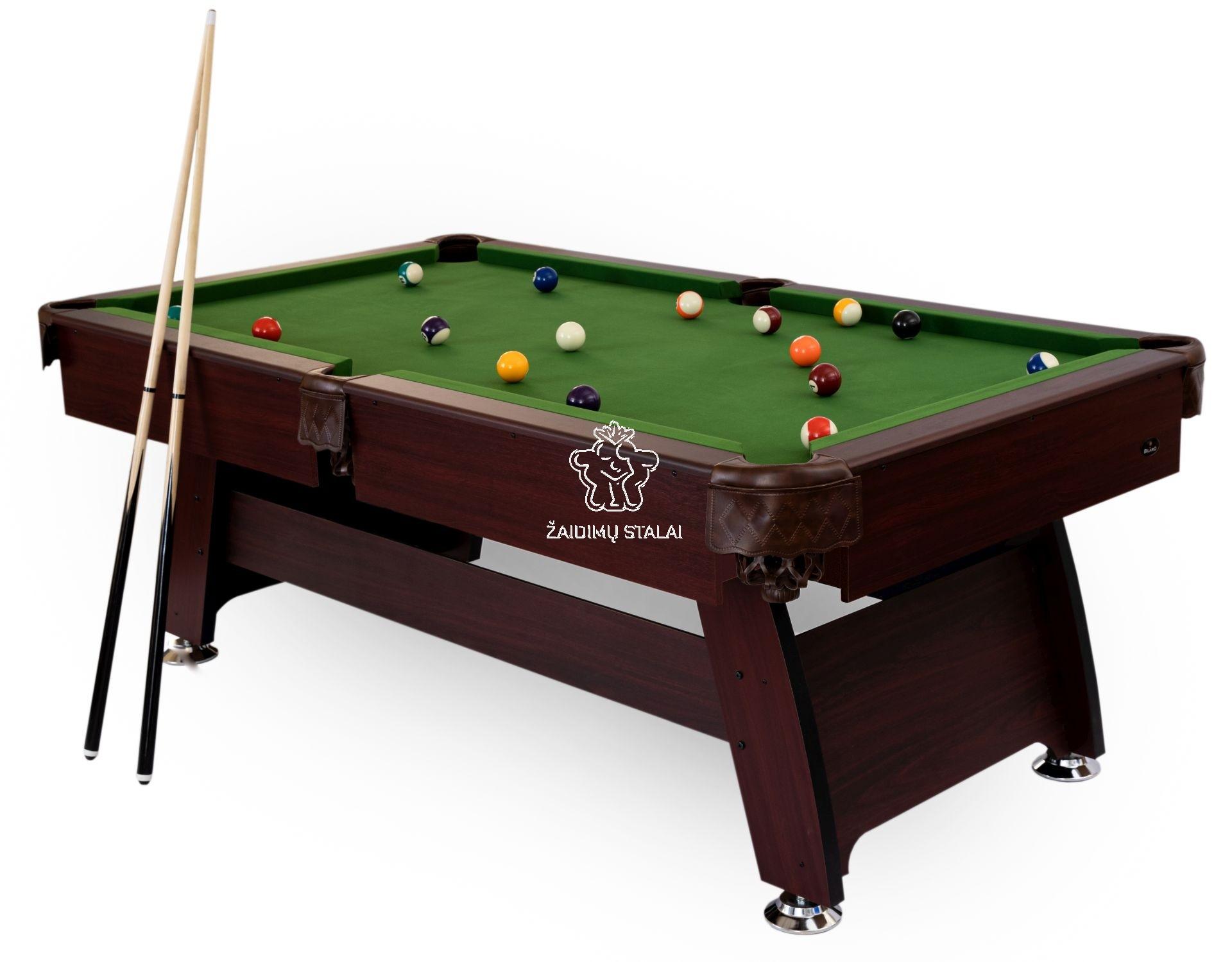 Pulo stalas Bilaro Q15 8 pėdų (242x131cm) žalias audinys su komplektacija