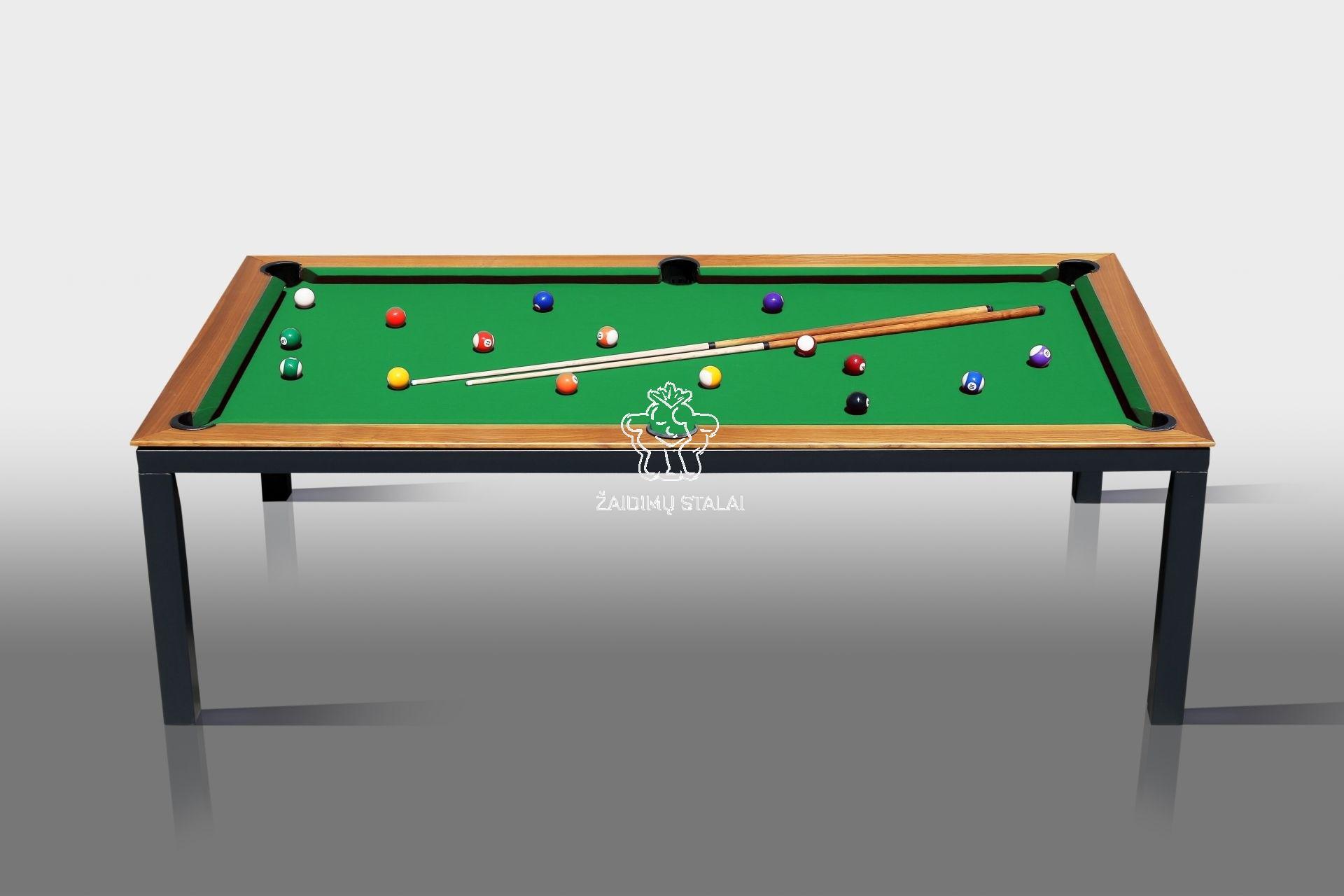 Pulo stalas Bilaro Livante 6 pėdų (210x110cm), su komplektacija