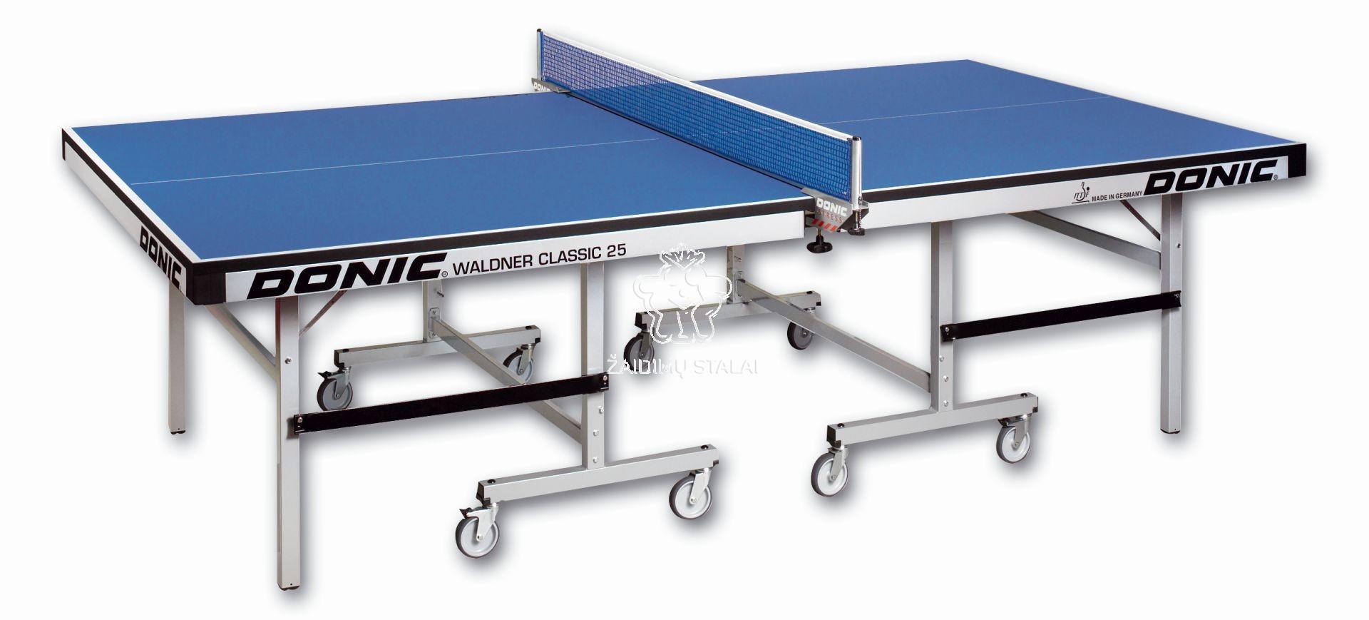 Stalo teniso stalas Donic Waldner Classic, mėlynas, 25mm MDF, ITTF
