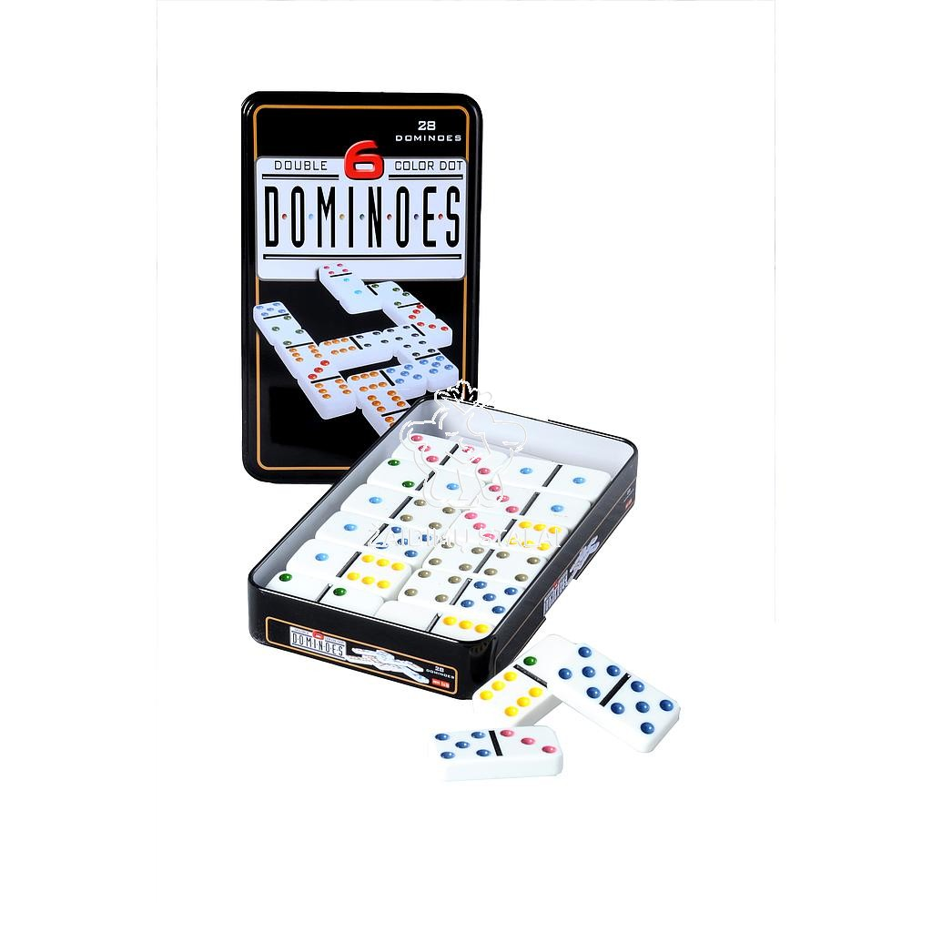 Stalo žaidimas Domino 6, metalinė dėžutė