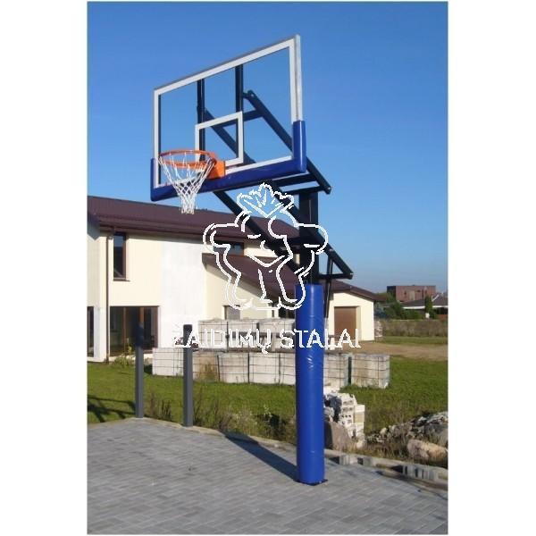 Įbetonuojamas krepšinio stovas Hydra Max (akrilo plastikas)