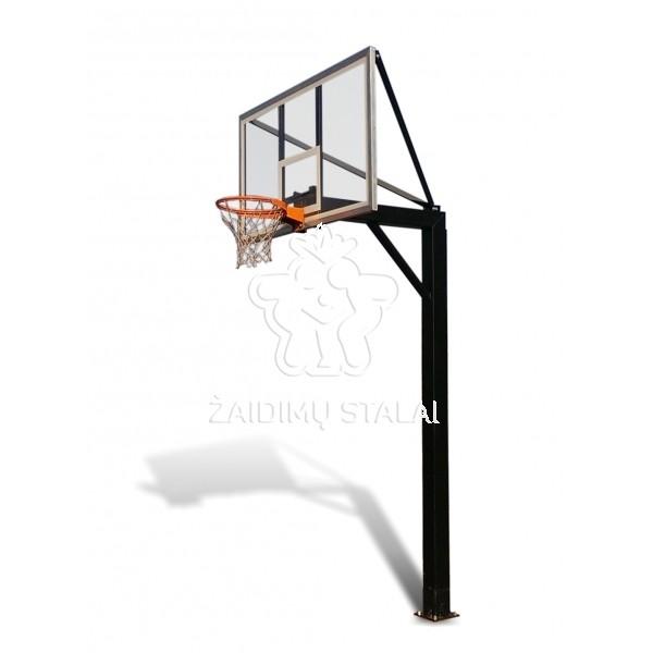 Įbetonuojamas krepšinio stovas Titanas 150 (akrilo plastikas)