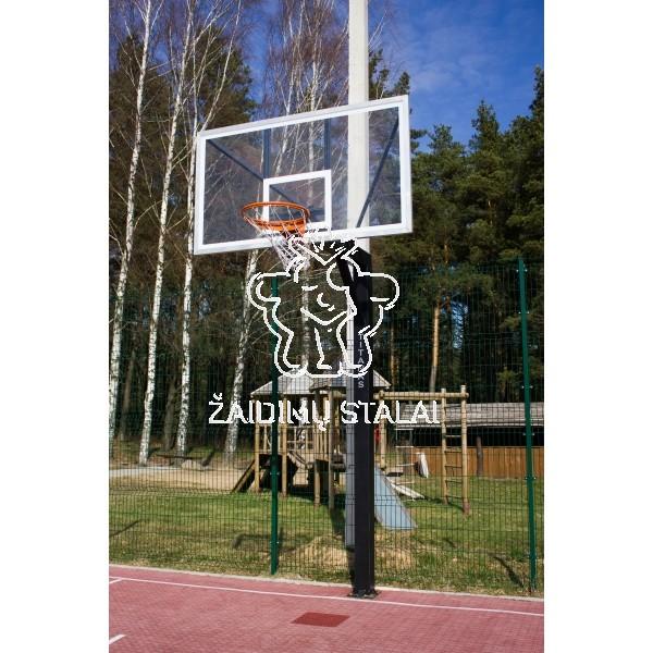 Įbetonuojamas krepšinio stovas Titanas 125 (grūdintas stiklas)
