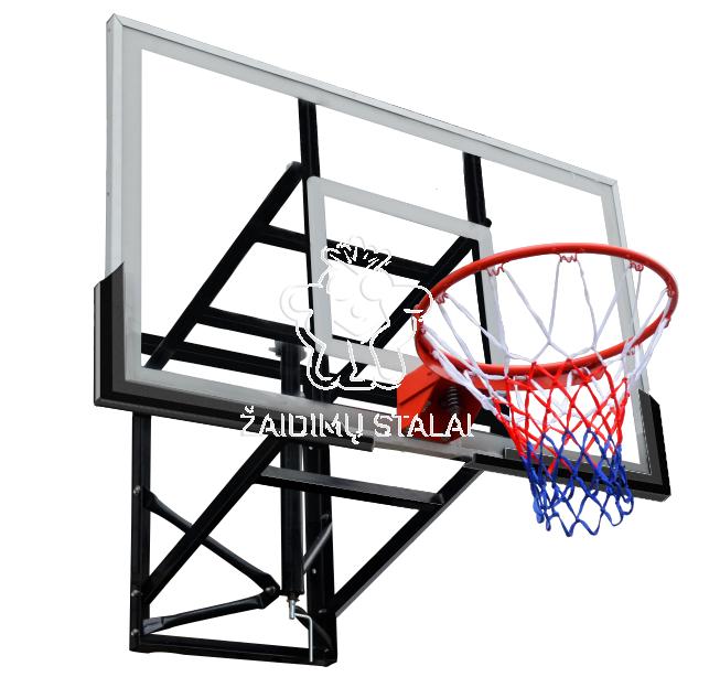 Krepšinio lenta B-Sport Montana 136x80cm, reguliuojamo aukščio, su lanku ir tinkleliu