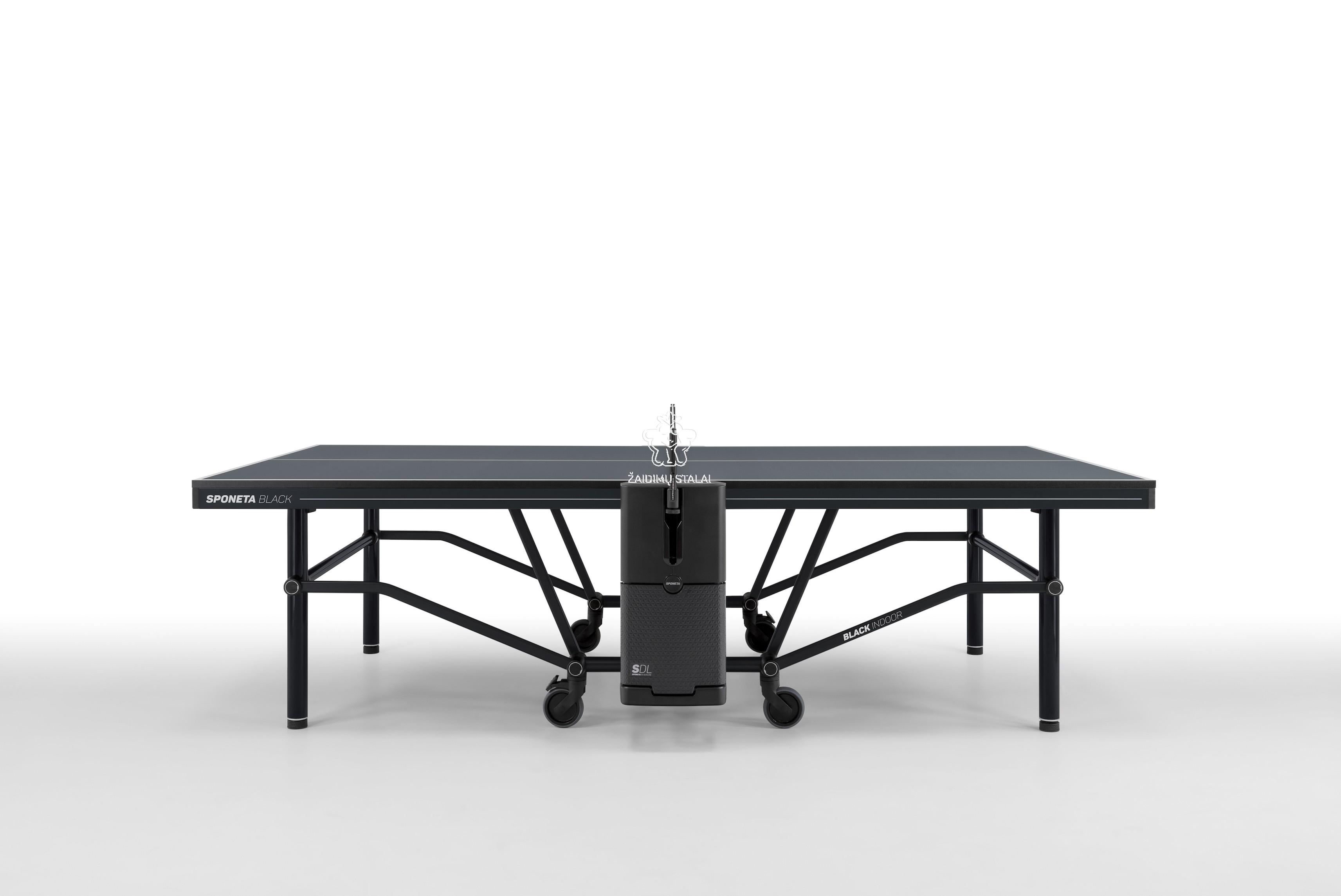 Stalo teniso stalas Sponeta Design Line BLACK INDOOR