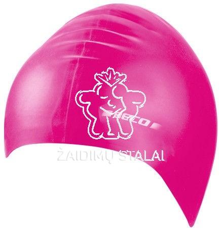 Vaikiška plaukimo kepurė BECO, silikoninė, rožinė
